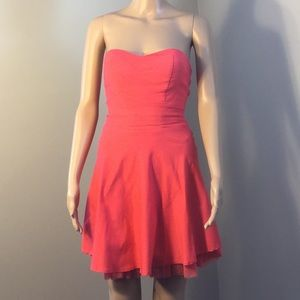 HONEY AND ROSIE : STRAPLESS PINK DRESS:  Size S
